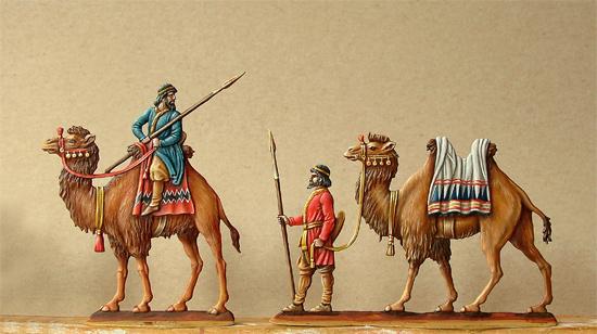 Persische Kamelreiter