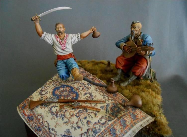 Feiernde Saporoger Kosaken, 17. Jahrhundert